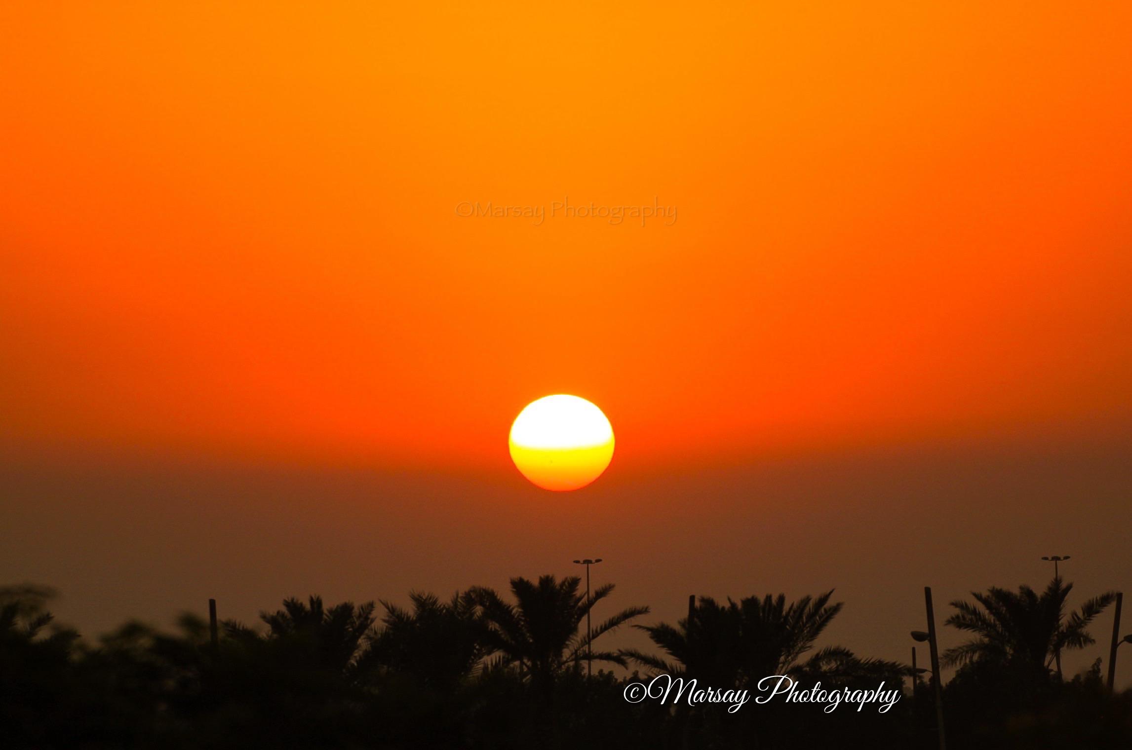 A gorgeous Sunset over Bahrain