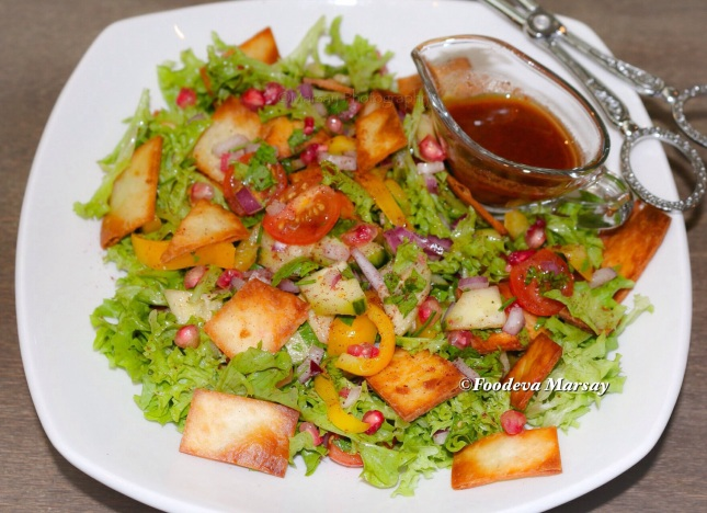 Fattoush Salad is Served